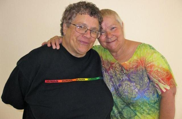 Judy Rickard and her wife, Karen